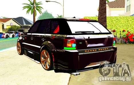 RANGE ROVER SPORTS 2008 для GTA San Andreas вид сзади слева