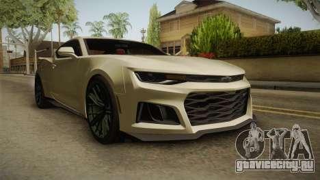 Chevrolet Camaro ZL1 2017 для GTA San Andreas вид справа