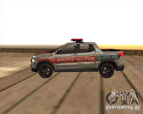 Fiat Toro Police Military для GTA San Andreas вид слева