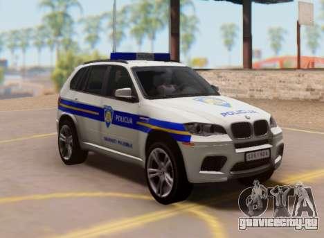 BMW X5 Croatian Police Car для GTA San Andreas вид изнутри