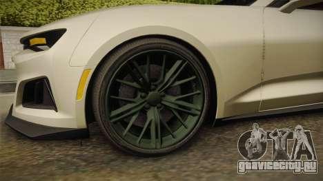 Chevrolet Camaro ZL1 2017 для GTA San Andreas вид изнутри