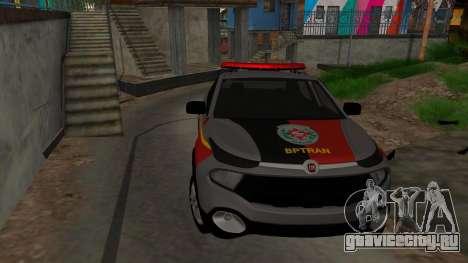 Fiat Toro Police Military для GTA San Andreas двигатель