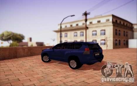 Toyota LC Prado 150 для GTA San Andreas вид сзади слева