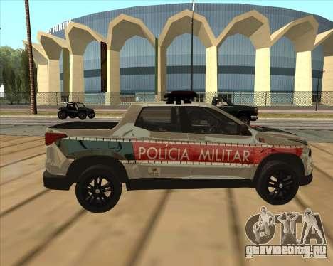 Fiat Toro Police Military для GTA San Andreas вид сзади