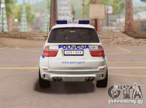 BMW X5 Croatian Police Car для GTA San Andreas вид справа