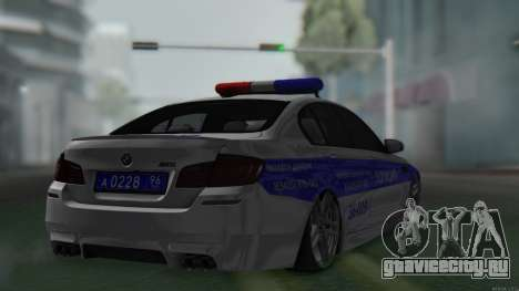 BMW M5 F10 Полиция для GTA San Andreas вид слева