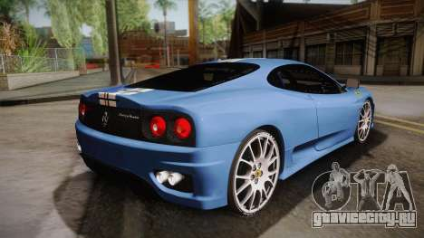Ferrari 360 Challenge Stradale v3.2 для GTA San Andreas вид слева