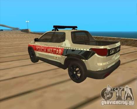 Fiat Toro Police Military для GTA San Andreas вид справа
