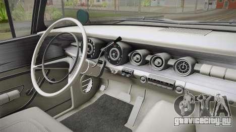 Pontiac Bonneville Hardtop 1958 HQLM для GTA San Andreas вид изнутри
