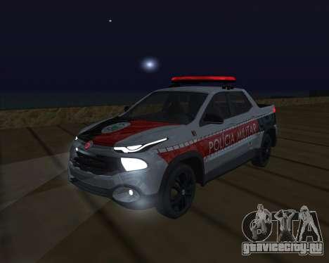 Fiat Toro Police Military для GTA San Andreas колёса