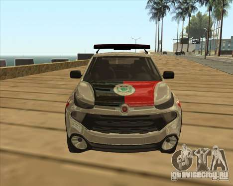 Fiat Toro Police Military для GTA San Andreas вид изнутри