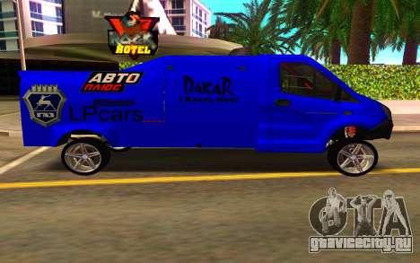 GAZ Next Rally для GTA San Andreas вид слева