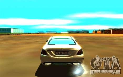Mercedes-Benz C250 для GTA San Andreas вид справа