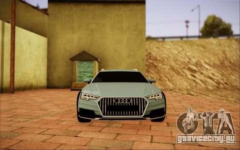 Audi A4 Allroad 2017 для GTA San Andreas вид справа