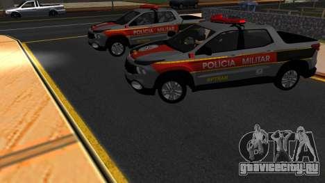 Fiat Toro Police Military для GTA San Andreas салон