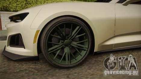 Chevrolet Camaro ZL1 2017 для GTA San Andreas вид сзади