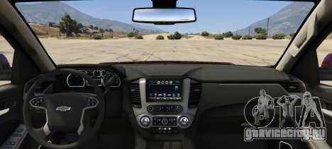 Chevrolet Suburban 2016 для GTA 5 вид сзади слева