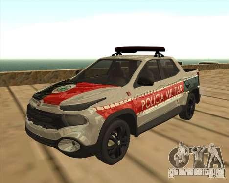 Fiat Toro Police Military для GTA San Andreas