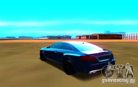 Mercedes-Benz E63 W212 Coupe для GTA San Andreas вид слева