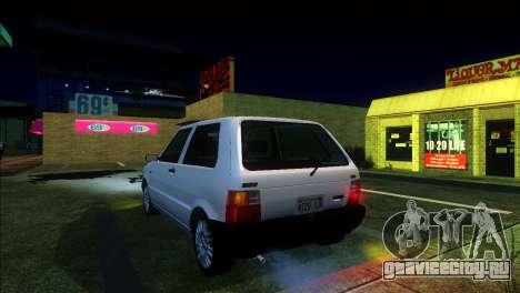Fiat Uno Mille 1995 для GTA San Andreas вид сзади