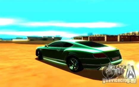 Bentley Continental GT для GTA San Andreas вид слева