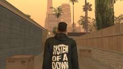 System of a Down Black Hoody v1 для GTA San Andreas