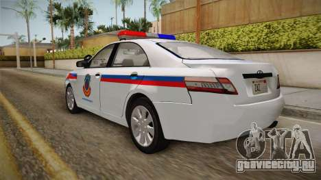 Toyota Camry Turkish Gendarmerie Traffic Unit для GTA San Andreas вид слева