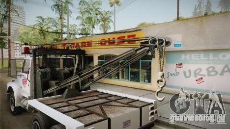 GTA 5 Vapid Towtruck Large Cleaner для GTA San Andreas вид изнутри