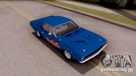 Plymouth Hemi Cuda 440 1970 для GTA San Andreas вид снизу