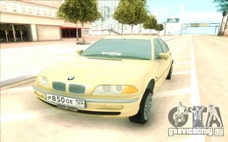 BMW 320 для GTA San Andreas вид справа