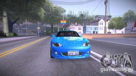 Mazda MX-5 Miata для GTA San Andreas вид сзади слева
