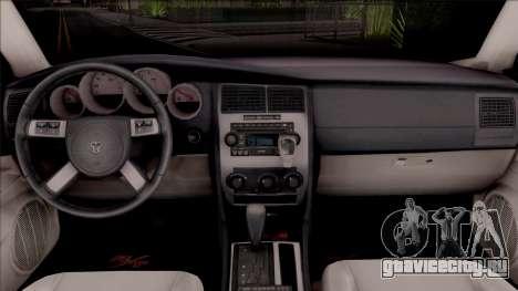 Dodge Charger High Speed Police для GTA San Andreas вид изнутри