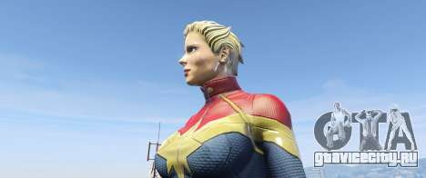 Captain Marvel (ANAD) для GTA 5 третий скриншот