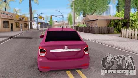 Hyundai i10 для GTA San Andreas вид сзади слева