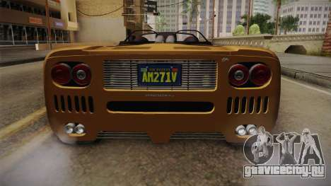 GTA 5 Progen GP1 Roadster IVF для GTA San Andreas вид сверху