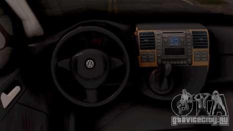 Volkswagen Transporter T5 Selidbe для GTA San Andreas вид изнутри