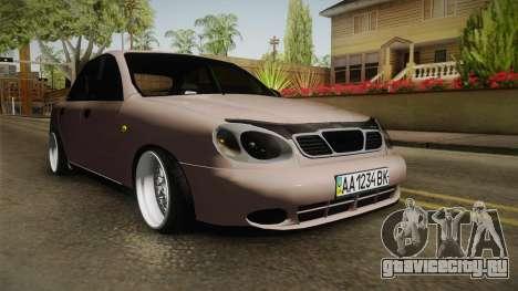 Daewoo Lanos Sedan 2001 для GTA San Andreas вид справа