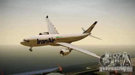 Airbus A330-200 IranAir для GTA San Andreas вид сзади слева