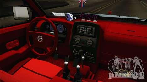 Nissan Ddsen 2016 для GTA San Andreas вид изнутри