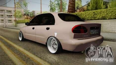 Daewoo Lanos Sedan 2001 для GTA San Andreas вид слева