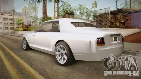 GTA 5 Enus Diamond Coupè для GTA San Andreas вид слева