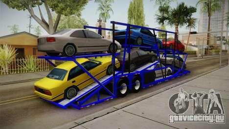 Peterbilt 379 Packer Tractor Trailer для GTA San Andreas вид сзади слева