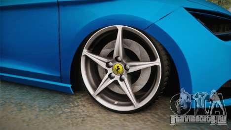 Seat Leon FR Blue для GTA San Andreas вид сзади