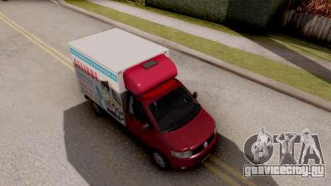 Volkswagen Transporter T5 Selidbe для GTA San Andreas вид справа