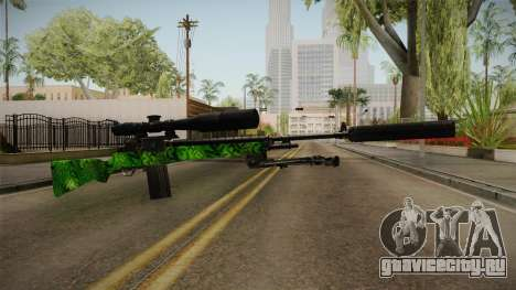 Green Sniper Rifle для GTA San Andreas