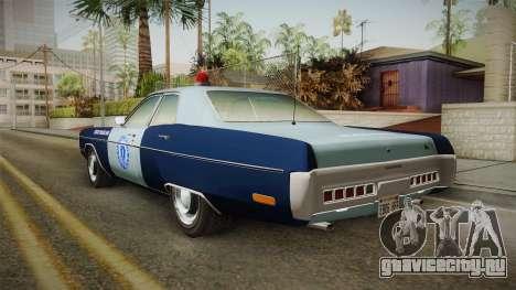 Plymouth Fury 1972 Massachusetts State Police для GTA San Andreas