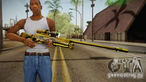 Cross Fire - AWM Infernal Oragon Noble Gold для GTA San Andreas