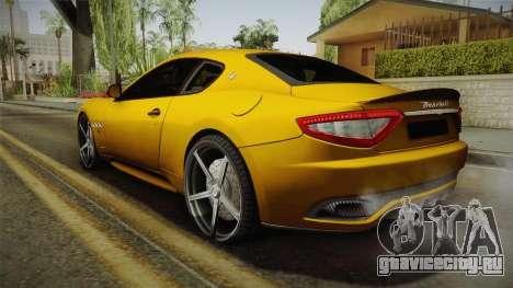 Maserati GranTurismo Sport v2 для GTA San Andreas вид слева