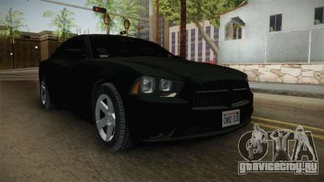 Dodge Charger 2013 Unmarked Iowa State Patrol для GTA San Andreas вид справа