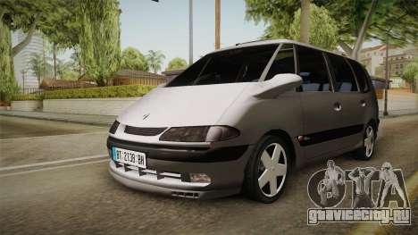 Renault Espace 1999 2.0 16v для GTA San Andreas вид справа